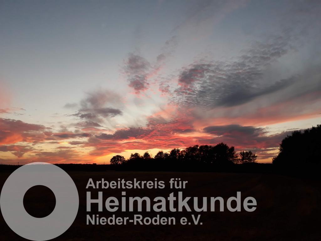 Sonnenuntergang Nähe Rollwald